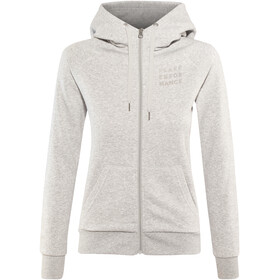 Peak Performance Ground Zip Hood Women Med Grey Melange